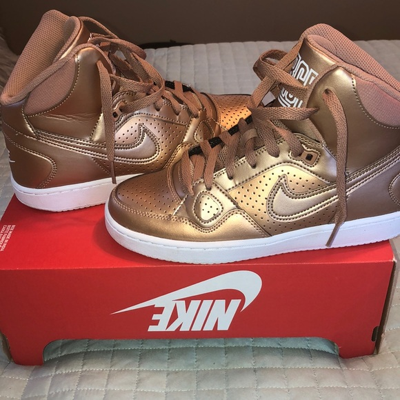 Nike Air Son of Force Rose Gold High Tops